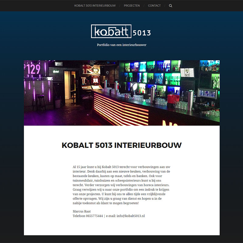 Kobalt interieur ontwerp en bouwer