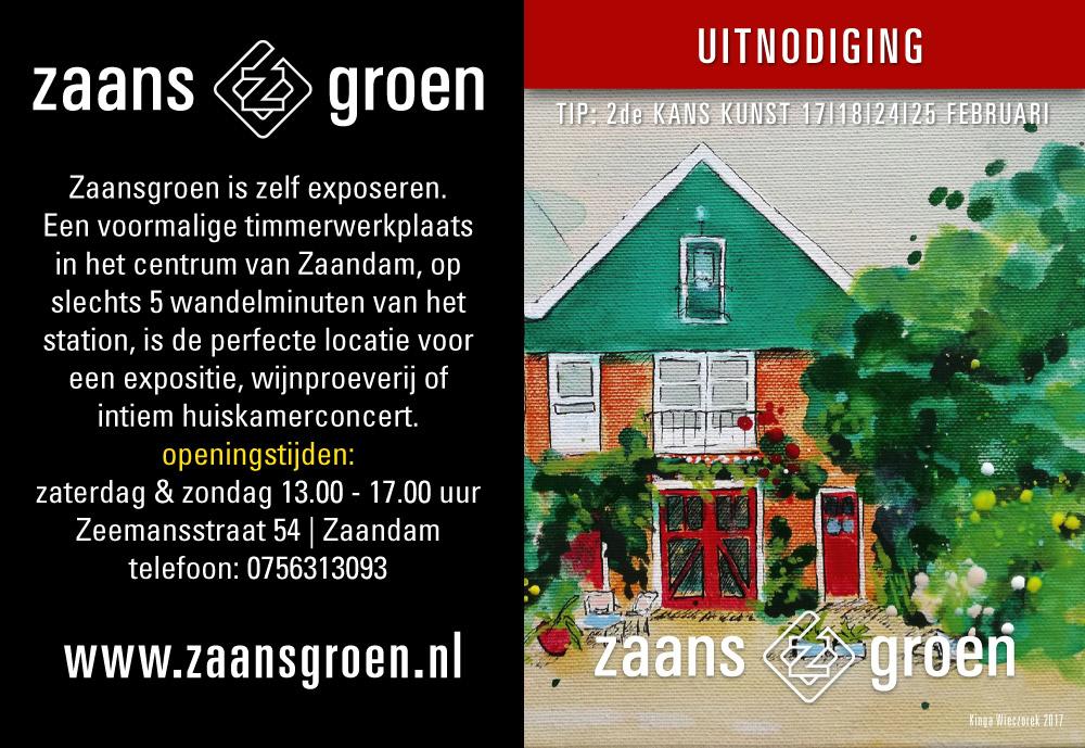front folder Zaansgroen door Studio Van Westervoort grafisch ontwerp Zaandam